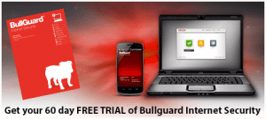 Get your 60 day FREE TRIAL of BullGuard Internet Security